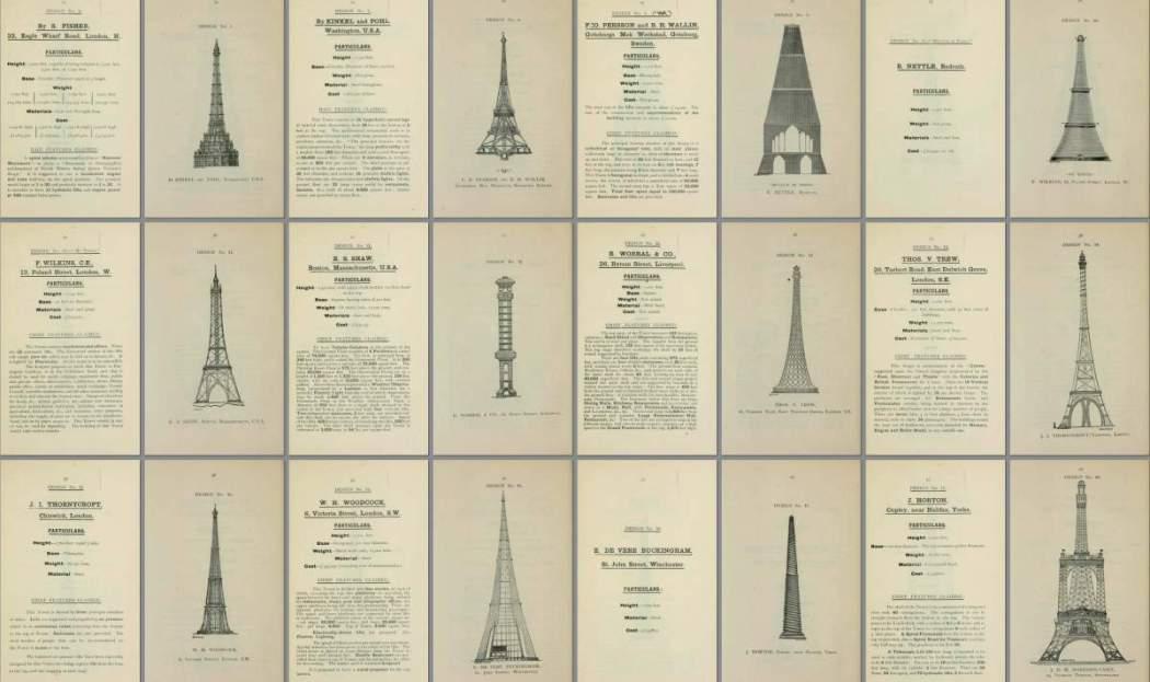 Photo of مسابقة تصميم برج ايفل قبل 126 سنة