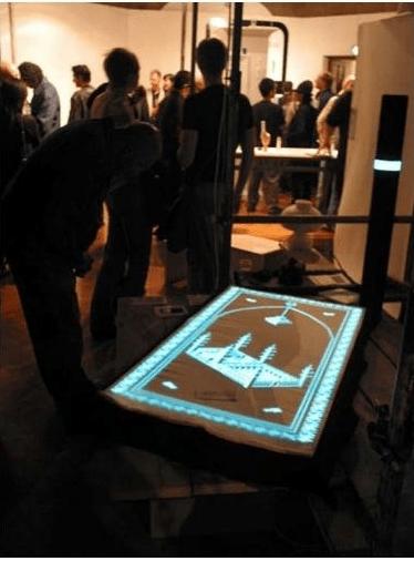 Bright carpet for prayer