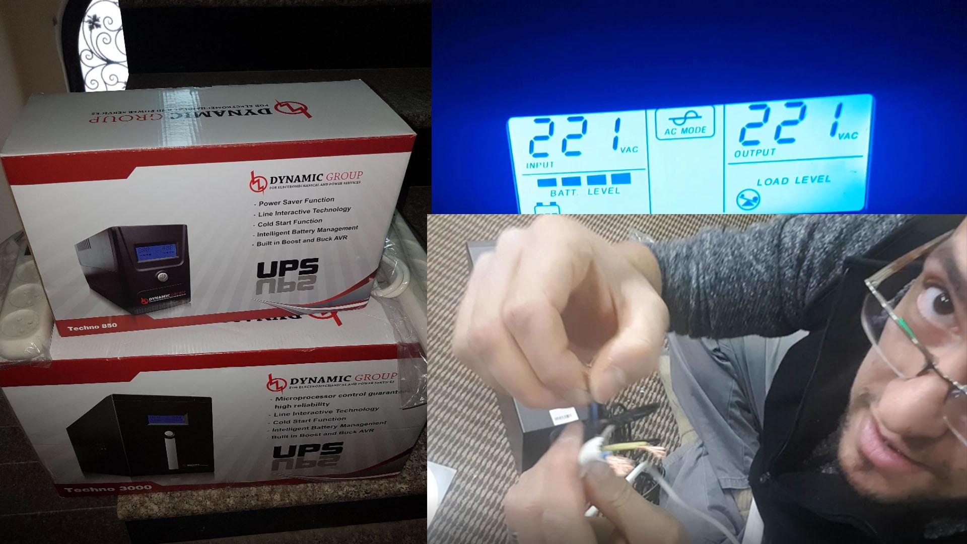 Photo of UPS Techno 3000VA يوبي اس وكيفة شبك وصلة كهربائية عليه