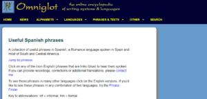 تعلم اللغة الإسبانية بواسطة Omniglot