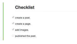 Github-checklist