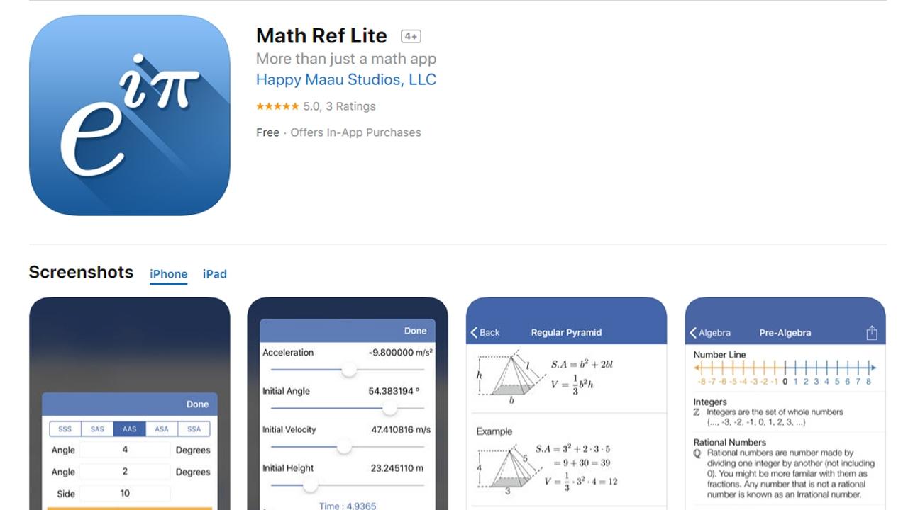 تطبيقات ايفون هامة لتعليم الرياضيات