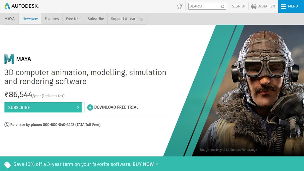 Autodesk Maya Autodesk Maya - برامج الرسوم المتحركة ثلاثية الأبعاد يعد Autodesk Maya برنامجًا ممتازًا مجانيًا للرسوم المتحركة للطلاب وهو رفيق مثالي للرسامين ثلاثي الأبعاد ومطوري الألعاب. مع هذا البرنامج ، يمكنك إنشاء شخصيات ثلاثية الأبعاد مذهلة من خيالك الخاص للألعاب أو الأفلام. يتم تجميع Autodesk Maya مع مجموعة مذهلة من الميزات ومجموعة واسعة من وظائف التلوين والنمذجة. إنه برنامج مثالي لتطوير الألعاب ثلاثية الأبعاد وكذلك في وسائط الترفيه الأخرى. السعر: 185 دولارًا شهريًا (يتوفر إصدار تجريبي مجاني) و 3 سنوات مجانًا للطلاب