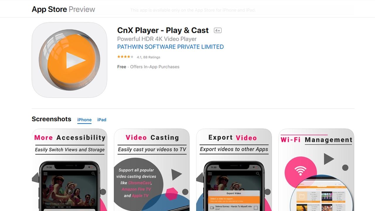 أفضل تطبيقات ابل ستور لتشغيل الفيديو 2020