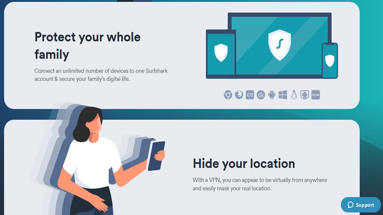 Surfshark أفضل خدمة VPN رخيصة